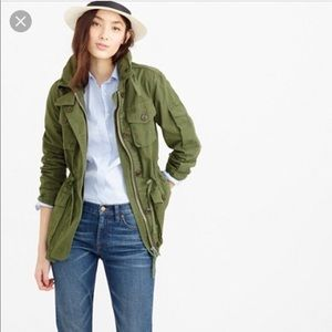 J.Crew olive green utility jacket - MINT!